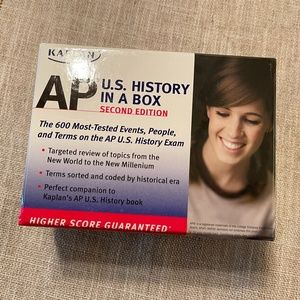 Kaplan AP US History in a Box flashcards Like NEW